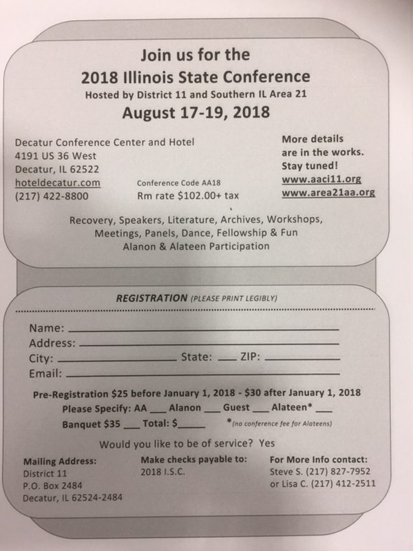 2018 Illinois State Conference @ Decatur Conference Center and Hotel | Decatur | Illinois | United States